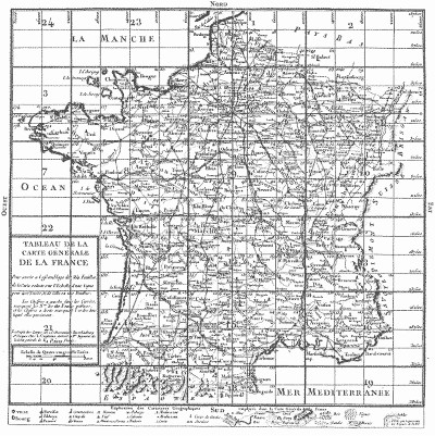 carte de france quadrillage